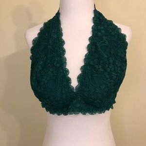 Other - Green lace halter bralette